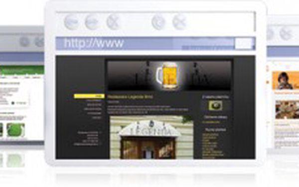 Webové stránky snadno s programem inPage Standard. Doména, e-mail a e-shop v ceně!
