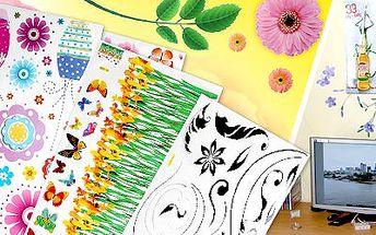 30 Kč za celobarevnou dekorační samolepku na stěnu, zrcadlo, notebook, kterou si sama vyberete.
