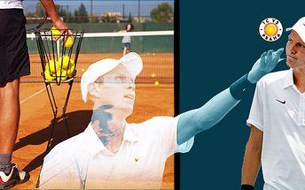 Hodina tenisu s profesionálním trenérem v nádherném tenisovém areálu, kde byla členkou i Martina Navrátilová!