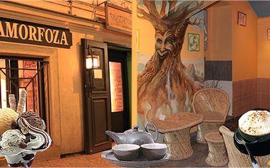 Čajovna Metamorfóza v centru Prahy s výraznými slevami na cappuccino, latté, různé čaje (39 druhů), vafle a zmrzlinový pohár!