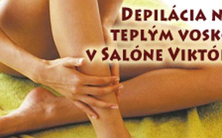 Depilácia nôh teplými voskami v Salóne Viktória v Bratislave s 50% zľavou