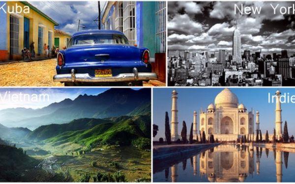 Chcete navštívit opravdu zajímavá místa a strávit svou dovolenou aktivně? Pak je tato nabídka právě pro Vás! Zakupte voucher za pouhých 25 Kč a získejte tak slevu 4.000 Kč na poznávací zájezdy do New Yorku, Vietnamu, Kuby nebo Indie!!