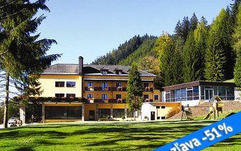 Letný pobyt na 3 dni pre 2 osoby v Rakúsku v Hoteli Alpenhof*** v Semmeringu s polpenziou, neobmedzeným vstupom do bazéna a fľašou sektu. Komfortný hotel s tradíciou a eleganciou v krásnom prostredí teraz so zľavou 51%