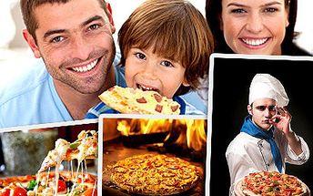 Vychutnejte si EXTRA porci s příchutí Itálie! Vezměte přátele a dejte si extra pizzu se slevou 53%.