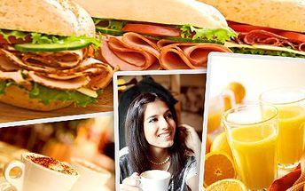 Nejen Britové vědí, že snídaně je základem úspěšného dne. Nastartujte i Vy svůj den bohatou snídaní! Udělejte si čas na pořádnou snídani a vybírejte z 12 druhů baget s horkým či nealko nápojem se slevou 51%.