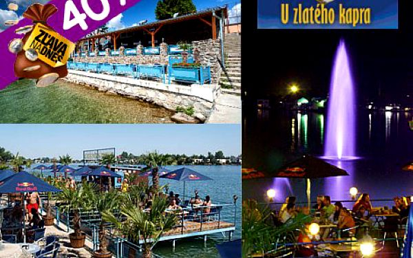 Leto, slnko, voda a vynikajúce jedlo. Príďte sa najesť do Zlatého Kapra. Jedlo a nápoje podľa vášho výberu v hodnote 20 eur iba za 12 eur!