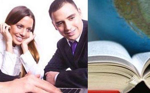 Vyhraj konečně nad angličtinou díky letnímu intenzivnímu kurzu anglického jazyka s báječnou 40% slevou! Jen za 1790,- Kč Tě čeká celkem 24 vyučovacích hodin angličtiny.