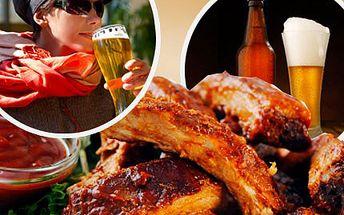 Poseďte si hezky po česku a dejte si kilo pečených žeber, spláchněte to pivem a buďte v pohodě! Vychutnejte si kilo pečených žeber s pivem v pohodové restauraci se slevou 51%.
