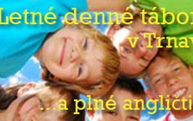 Skvelý letný detský tábor plný angličtiny a zážitkov v Trnave so zľavou 35%