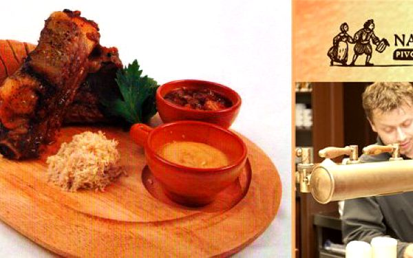 149 Kč za DVĚ porce pečených žebírek. Věhlasná restaurace Na Rychtě s vlastním domácím pivem a slevou 50 %.