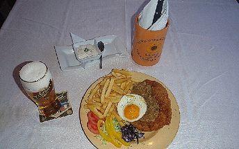 ! Jen 78Kč za vepřový řízek s cibulí nebo sir William's 200g ! Přijďte do vyhlášené restaurace Šnyclovna !
