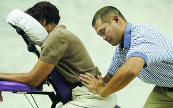 Příliš mnoho stresu? Bolí Vás záda od stálého sezení u počítače? Objevte masérský hit posledních let! 30 minutová vysoce relaxační masáž šíje a zad na speciální židli za skvělých 286 Kč.