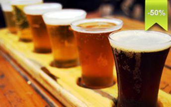 Ochutnávka piva, kde vyskúšate rôzne chute a vône. K tomu máte aj klasické pochutiny, ktoré k pivu neodmysliteľne patria. U nás zo zľavou 50%.