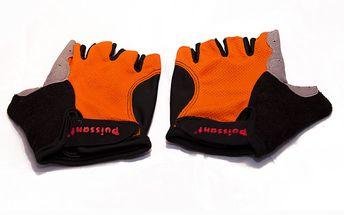 Cyklistické rukavice - Skvěle padnoucí cyklistické rukavice na suchý zip. Maximální pohodlnost při jízdě zaručuje kvalitní polstrování v oblasti dlaní. (osobní odběr Brno)