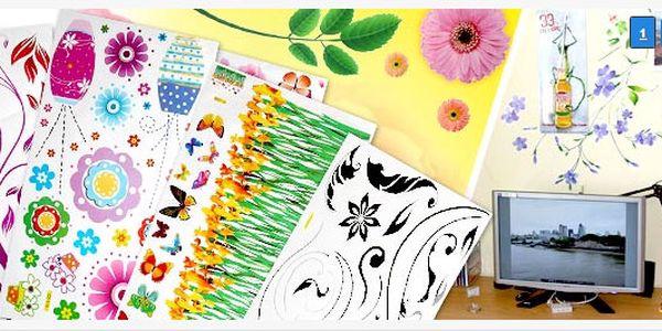 30 Kč za celobarevnou samolepku na stěnu, notebook k výběru 100 druhů