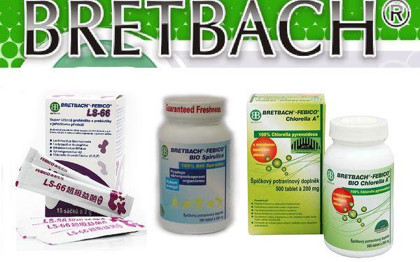 BRETBACH kombo pro vaše zdraví - Bio Chlorella, Spirulina, Probiotika LS-66. Využijte tuto jedinečnou a výhodnou nabídku a udělejte něco pro své zdraví. Měsíční kůra sestavená z těch nejkvalitnějších produktů na českém trhu.