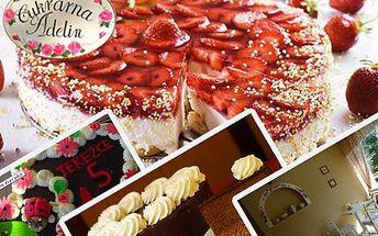 Vyberte si z bohaté nabídky čerstvě upečených domácích dortů pro sebe nebo své známé! Potěšte sebe i své blízké domácím dortem dle vlastního výběru se sladkou slevou 50%.