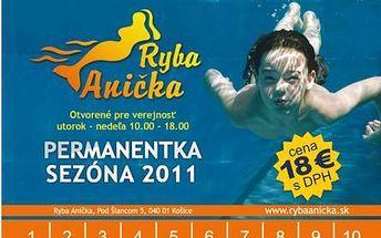 10 vstupov na kúpalisko Ryba Anička iba za 18€