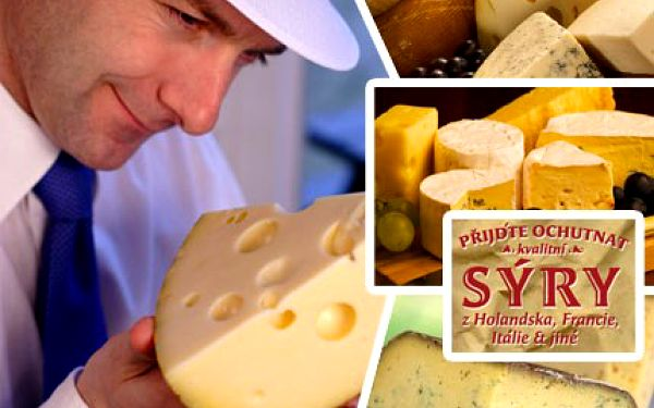 Rozmazlujte své chutě a zúčastněte se skvělé degustace českých i zahraničních sýrů! Pojďte ochutnat nejlepší světové sýry se slevou 60%.