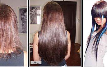 Prodloužení vlasů nejšetrnější metodou za neuvěřitelných 5499Kč (hodnota 10998Kč)! Nabídka se vztahuje na vlasy 45cm dlouhé s množstvím při jedné aplikaci do 120ti pramenů. Uvedená cena je včetně práce, obarvení nastavovaných vlasů na požadovaný odstín, konečný střih a styling.