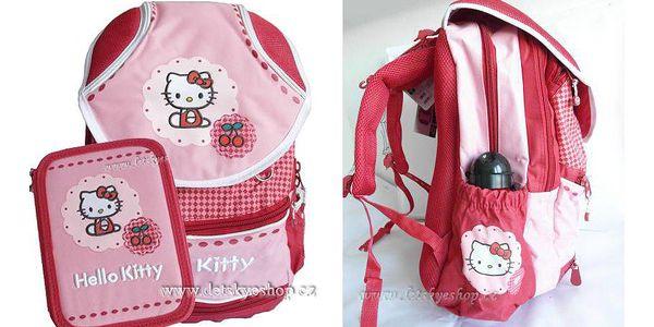 Krásný školní batoh a dvoupatrový penál Hello Kitty pouze za 749 Kč. Platnost poukazu do 1.9. 2011!
