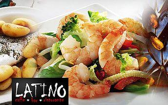 Bohatě naložený talíř MOŘSKÝCH PLODŮ pro DVĚ osoby ve stylové restarauci Latino Bar v Mostě s 54% slevou!!! PRAŽMA KRÁLOVSKÁ, ŠKEBLE, TYGŘÍ KREVETY a grilovaná středomořská zelenina, to vše za pouhých 399 Kč!!!