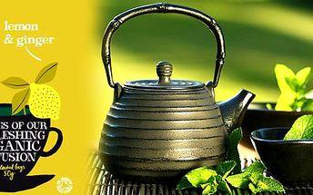 57 Kč za bombastický ovocný BIO čaj s citrónem a zázvorem předního anglického výrobce Clipper Teas! Dopřejte si luxusní chuť a potěšení z pravého anglického čaje!!