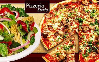 Jen 64 Kč za pizzu a salát dle výběru v pizzerii Sluis v Teplicích. Funghi, Hawai, Prosciutto i Margherita a další. Klasika z Itálie se slevou 52 %.