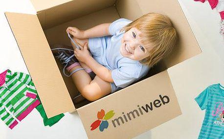 50% sleva na dětské oblečení v e-shopu MIMIWEB.CZ! Oblečte své děti vkusně a levně! Máte jedinečnou šanci nakoupit svým dětem značkové hadříky za super ceny. Navštivte stránky MIMIWEBU.CZ a vyberte si cokoliv se Vám líbí. Neplatí na sortiment obuvi a doplňků.