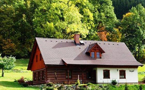 Letní prázdniny na samotě u lesa v romantické poloroubené chalupě v Krkonoších. Pohoda, luxus a krásná příroda nadosah.