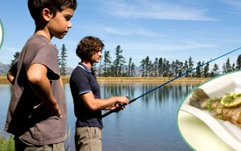 132 Kč za hodinu rybaření a pstruha s přílohou v restauraci Rybářská bašta. Povolenka Chyť a pusť + vybavení, jídlo a skvělý letní zážitek se slevou 50 %.