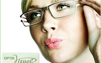 50% SLEVA na kompletní brýle pro vás! Oční vyšetření navíc ZDARMA! V příjemném prostředí Optik Visuel si z nepřeberného množství obrub jistě vyberete.