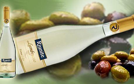 """Balíček """"Letní osvěžení"""" Řecké Chardonnay+Italské bílé Lambrusco+olivy Blonde naložené vOlivovém oleji!"""