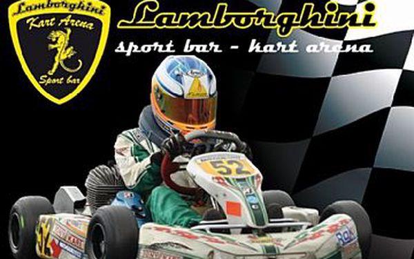 Zažijte pocit závodníka F1 - krytá motokárová trať Lamborghini kart arena se slevou 41%!