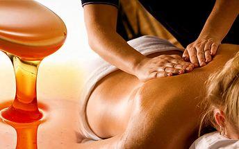 Medová detoxikační masáž s prémií nejen pro ženy v délce 75 minut! Proč nepečovat o pokožku a zároveň relaxovat za pouhých 400 Kč!