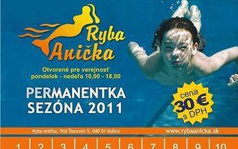 Permanentka na kúpalisko Ryba Anička iba za 18€