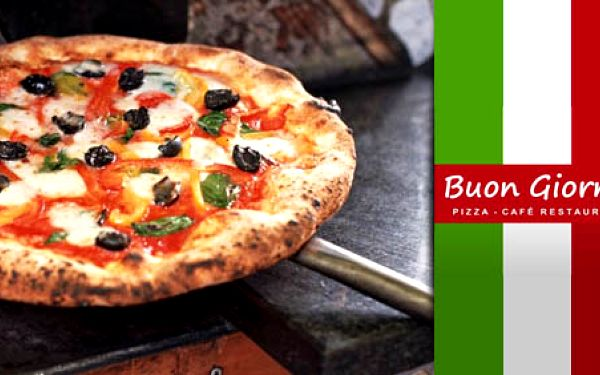 40 Kč za voucher na jídlo a pití v hodnotě 100 Kč. Dejte si, na co máte chuť v pizzerii Buon Giorno v OC FUTURUM. Pravé italské receptury s HyperSlevou 60 % .