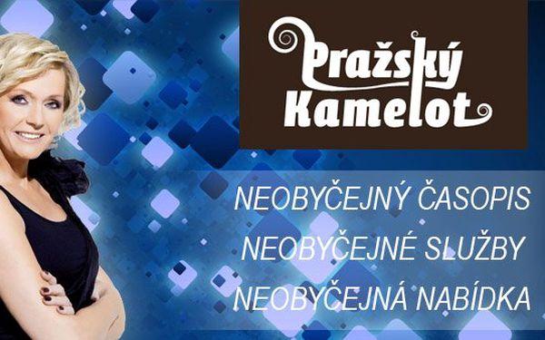 DVĚ stránky reklamy v měsíčníku Pražský Kamelot, kterému dělá patronku Helena Vondráčková! Představte se světu a navíc se slevou 72%!