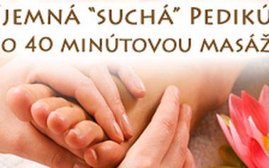 Suchá pedikúra, kúpeľ nôh, strihanie a úprava nechtov i okolia, peeling + relaxačná masáž v Žiline