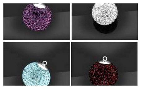 Zakupte si jedinečný a originální přívěšek ve tvaru kuličky 10 mm se zirkony Swarovski ® Elements za neuvěřitelnou cenu 312 Kč získáte tento přívěšek včetně poštovného a dárkového balení! Vhodné také jako dárek!