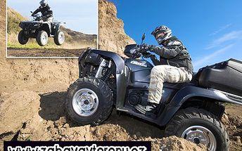 Vrrrrn, vrn, vrrrrrrrn! Pořádná dávka adrenalinu díky špičkové čtyřkolce Suzuki o objemu 722 ccm! 53% sleva na 2 hodiny jízdy kamkoliv a kdekoliv a to bez omezení ujetých kilometrů a s benzínem ZDARMA!