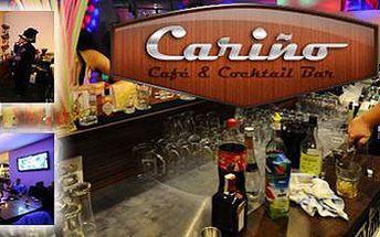 Sex on the beach, Cosmopolitan, Granát, Piňacoláda – vychutnaj si 2 z týchto miešaných drinkov iba za 3 €. Dva miešané nápoje v coctail bare CARIŇO so zľavou 63%.