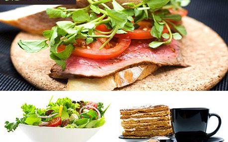 Uspokojte svůj apetit a dopřejte si chutné menu v BAGOO original appetite! Dejte si bagetu panini proscuito, zeleninový salát, medovník, nealko nápoj, kávu a 2x zmrzlinu. To vše se slevou 50 %.