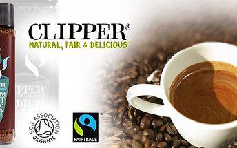 Vynikající instantní Fairtrade a Bio káva mrazem sušená přední anglické značky Clipper Teas. Ochutnejte a už nebudete chtít pít jinou!
