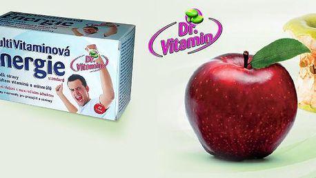 Jen 90 Kč za měsíční dávku - 30 kapslí MultiVitaminové Energie značky Dr. Vitamin. Objevte účinek nové technologie tekutých vitaminů, načerpejte přírodní energii s výjimečnou 40% slevou a poznejte skutečný potenciál svého těla!