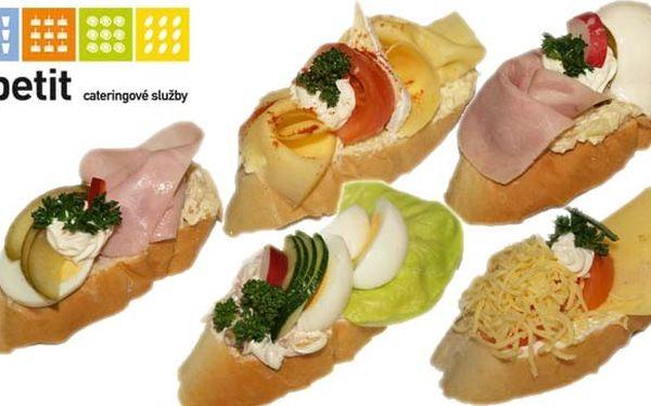 Jen 130 Kč za 10 velkých a poctivých chlebíčků od Apetitu. Na výběr z 10-ti oblíbených druhů. To nejlepší pro vaši oslavu!