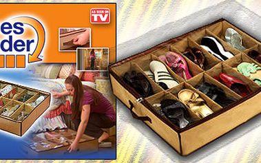 Je konec přeplněným skříním!! Nabízíme Vám praktický textilní vak vybavený 12 přihrádkami, které můžete využít na uskladnění svých bot, ale také dalšch předmětů.