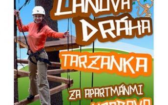 Adrenalín na lanovej dráhe so zľavou 50 %. Príďte si zmerať silu na 470 m dlhú lanovú dráhu a vyskúšať 75 metrovú lanovku do Ružomberka - časť Hrabovo len za 4 € po 50 % zľave.