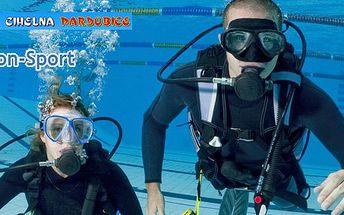 350 Kč za ukázkovou lekci potápění s dýchacím přístrojem. Ponořte se do hlubin se slevou 50 %.