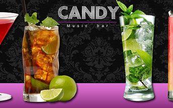 79 Kč za dva koktejly dle výběru. Pobavte se ve stylovém Music baru Candy se slevou 50 %.